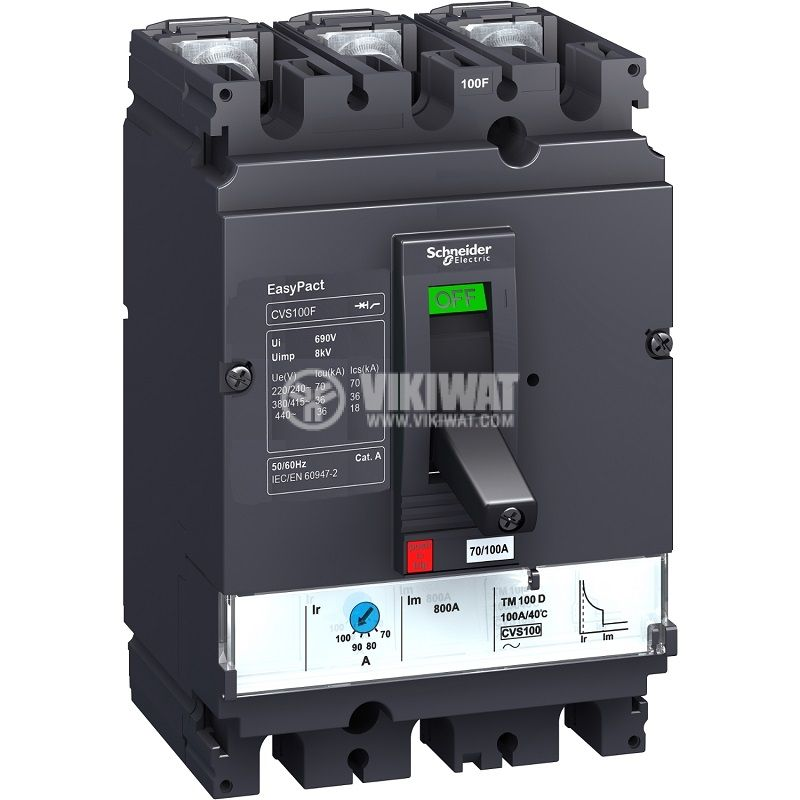 Automatic circuit breaker LV516303 3P3D 160А 415V