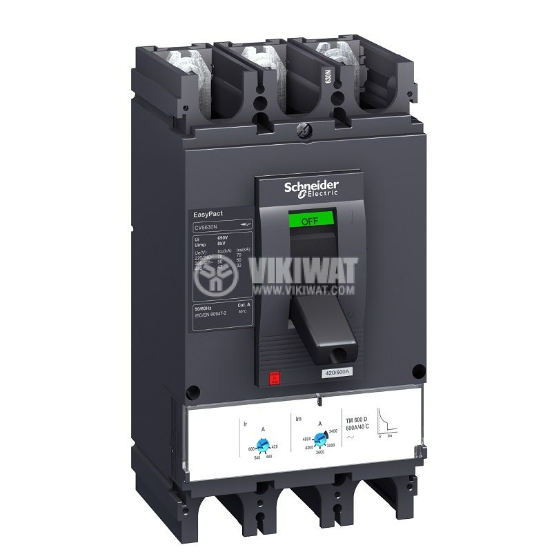 Automatic circuit breaker LV563306 3P/3d 600А 415V