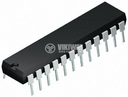 Интегрална схема 4034, CMOS, 8-Stage Static Bidirectional Parallel/Serial Input/Output Bus Register, DIP24 - 1