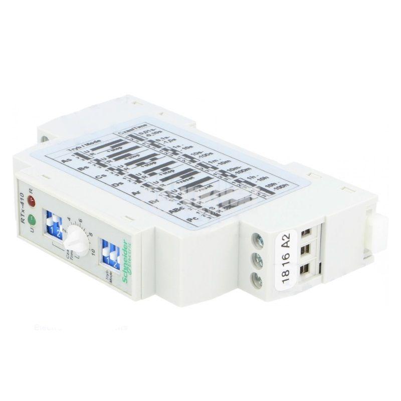 Реле за време RTX-410, многофункционално, 24~230VAC/VDC, 0.01s~100h, NO+NC, 5A/250VAC
