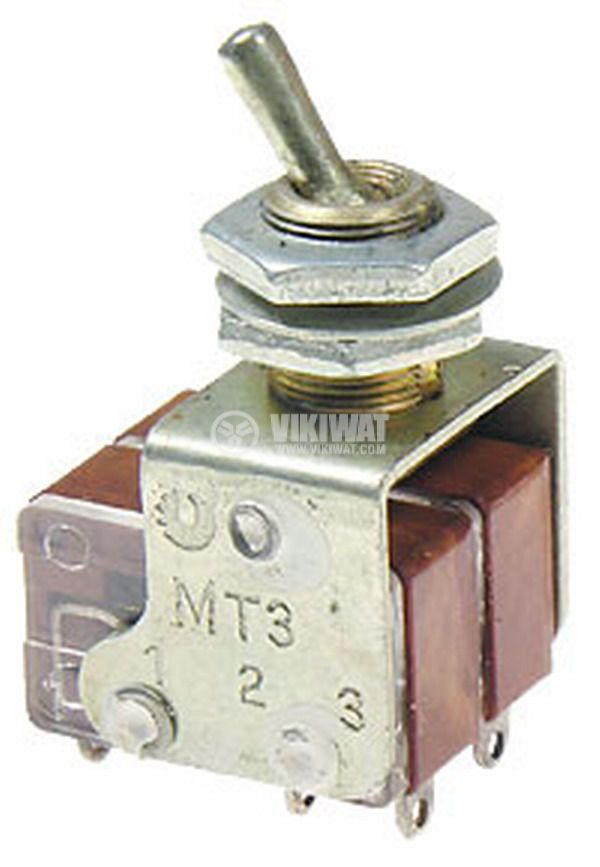ЦК ключ MT3-B, 4А/250VAC, DPDT, ON-ON - 1