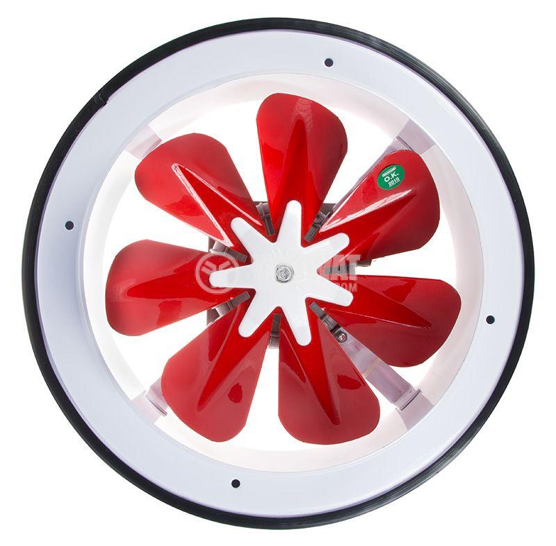 Вентилатор, промишлен, BB-200, ф200mm, 230VAC, 30W, 780m3/h, изсмукващ - 1