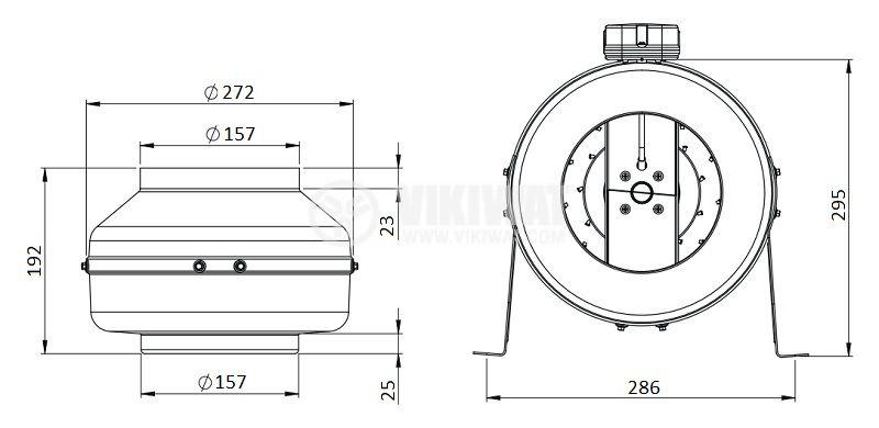 Вентилатор, промишлен, тръбен, BDTX 160-A - 2