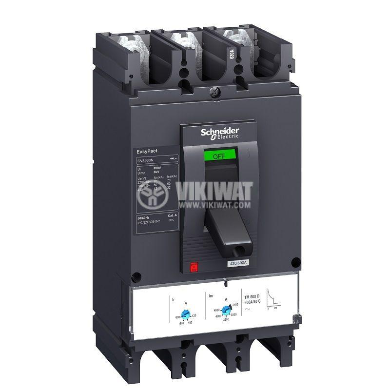 Автоматичен прекъсвач LV563505 3P/3d 630А 415V