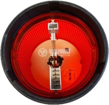 Сигнална лампа 24VAC/VDC червена непрекъсната светлина - 2