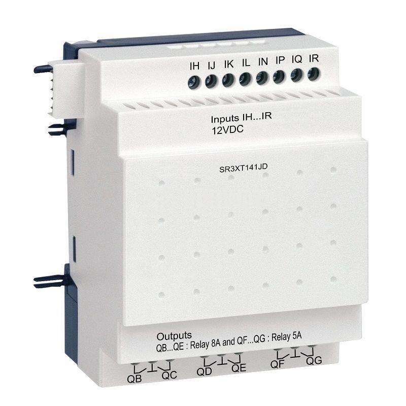 Разширяващ модул SR3XT141JD, 12VDC, 8 входа, 6 изхода, DIN