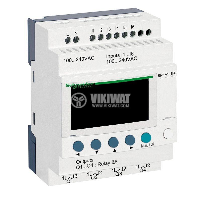 Реле програмируемо SR2A101FU, 100~240VAC, 6 входа, 4 изхода, DIN