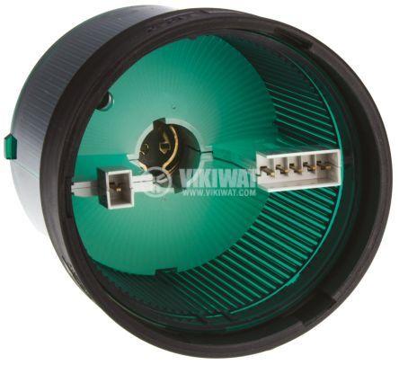 Корпус за сигнална лампа 0~250VAC/VDC зелена непрекъсната светлина BA15D - 2