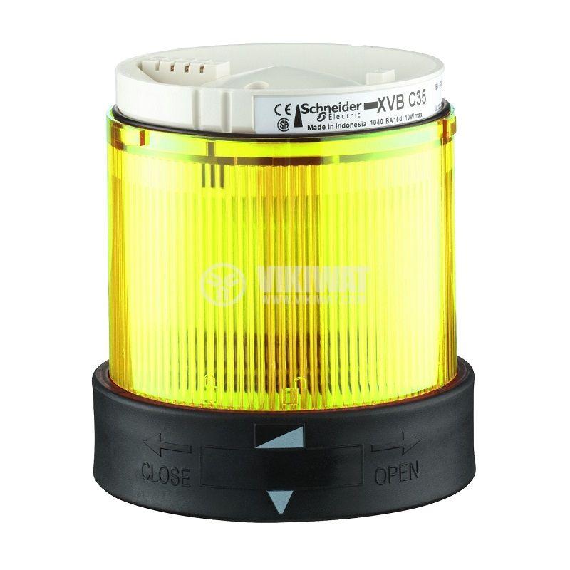 Корпус за сигнална лампа XVBC4B8 24VAC 24~48VDC жълта мигаща светлина BA15D