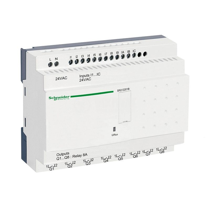 Реле програмируемо SR2E201B, 24VAC, 12 входа, 8 изхода, DIN