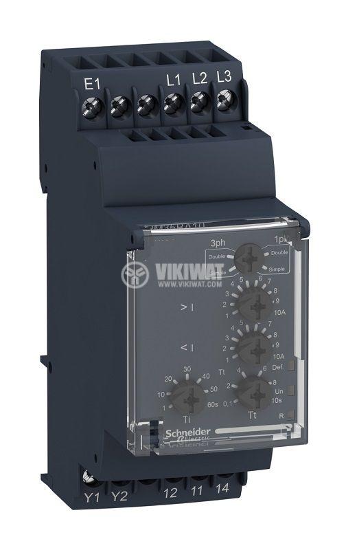 Monitoring relay RM35BA10, relay for pump, 1~10A, 230VAC, NO/NC, IP30