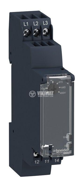 Контролно реле за напрежение, RM17TT00, 208~480VAC, IP30, DIN