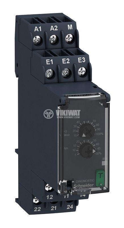 Контролно реле за напрежението, RM22UA22MR, 1~100 VAC/VDC, IP40, DIN