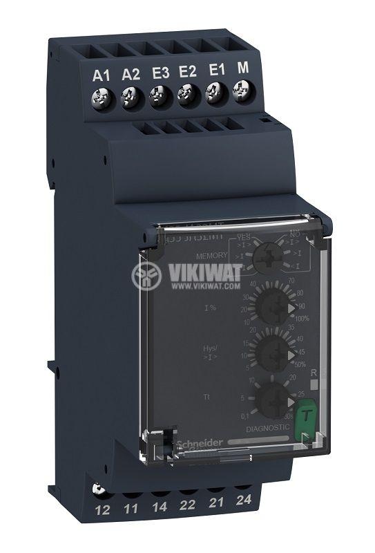 Current monitoring relay RM35JA32MT, 0.15~1A, IP30, 380~415 VAC, DIN