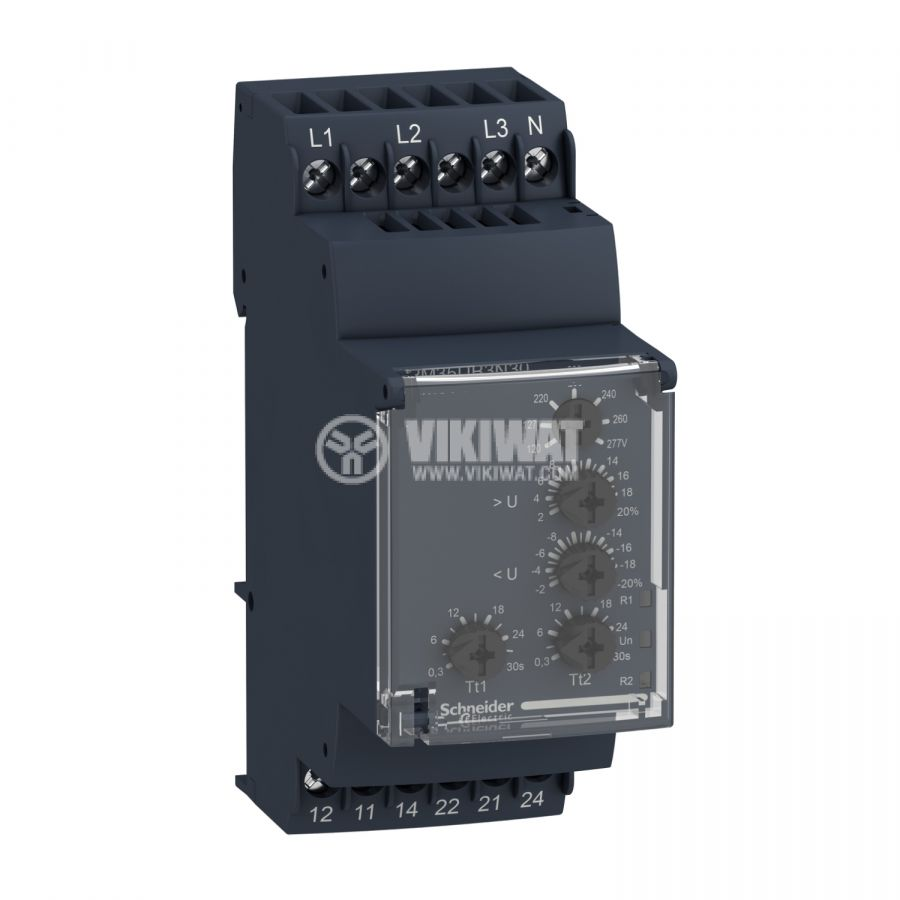 Контролно реле за напрежението, RM35UB3N30, 120~277VAC, IP30, DIN