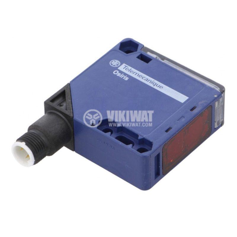 Оптичен датчик XUK9APANM12, 10~36VDC, отражателен, 50x50x18mm, PNP, 6m