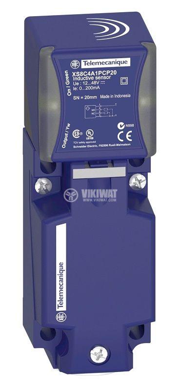Индуктивен датчик XS8C4A1NCP20 12~48V NPN 20mm екраниран