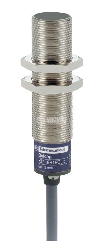 Капацитивен датчик XT118B1PAL2, M18x70mm, 12~30VDC, NO, 5mm, екраниран