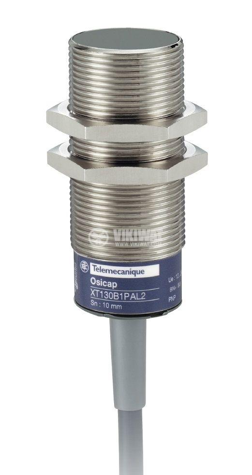 Капацитивен датчик XT130B1PAL2, M30x70mm, 12~30VDC, NO, 10mm, екраниран