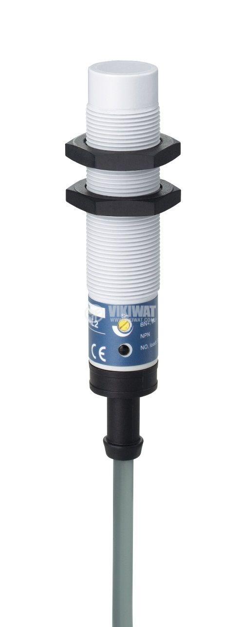 Капацитивен датчик XT218A1FAL2, M18x78mm, 20~265VAC, NO, 8mm, неекраниран