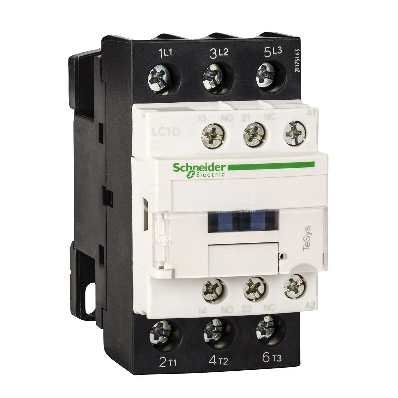 Контактор LC1D38B5 3-полюсен 3xNO 38A 24V помощни контакти NO+NC