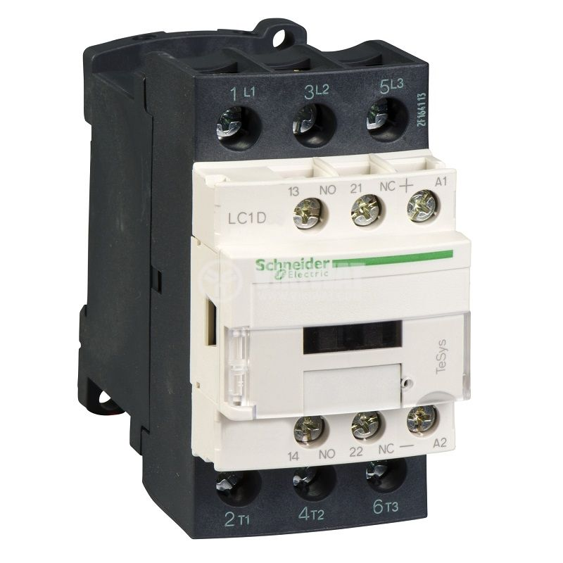 Контактор LC1D38BD 3-полюсен 3xNo 38A 24V помощни контакти NO+NC