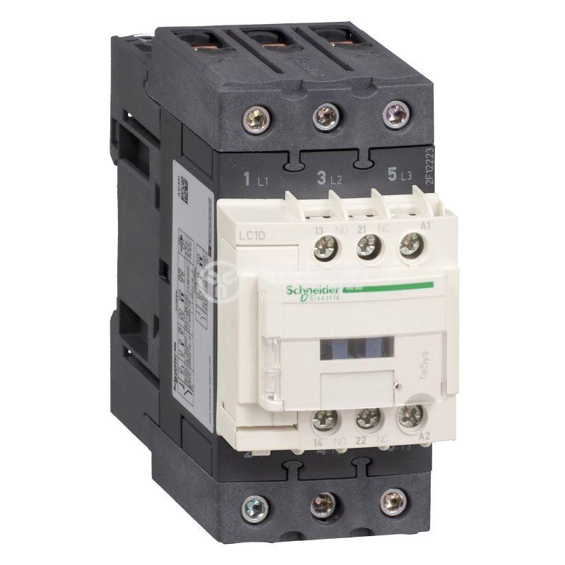 Контактор LC1D40AE5 3-полюсен 3xNO 40A 48V помощни контакти NO+NC