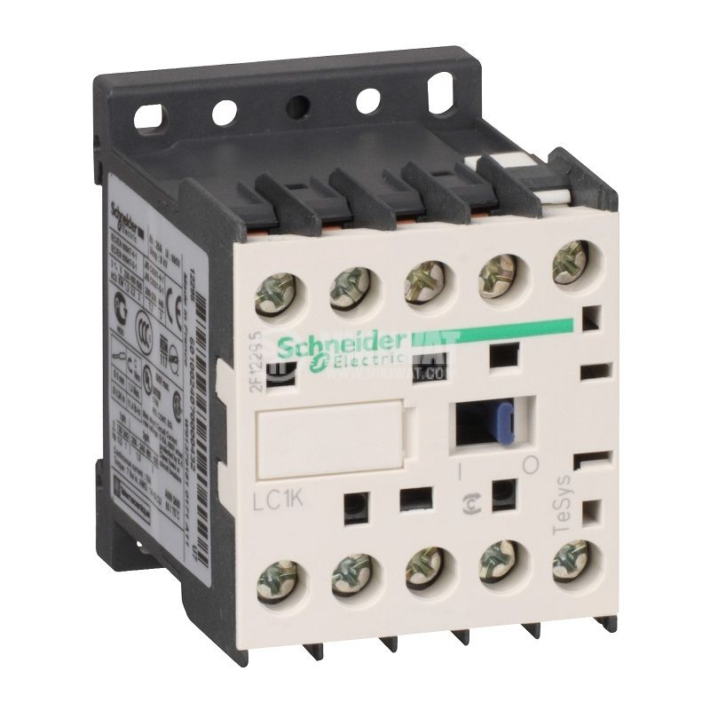 Контактор LC1K0901M7, 3-полюсен, 3xNO, 9A, 220VAC, помощни контакти NC