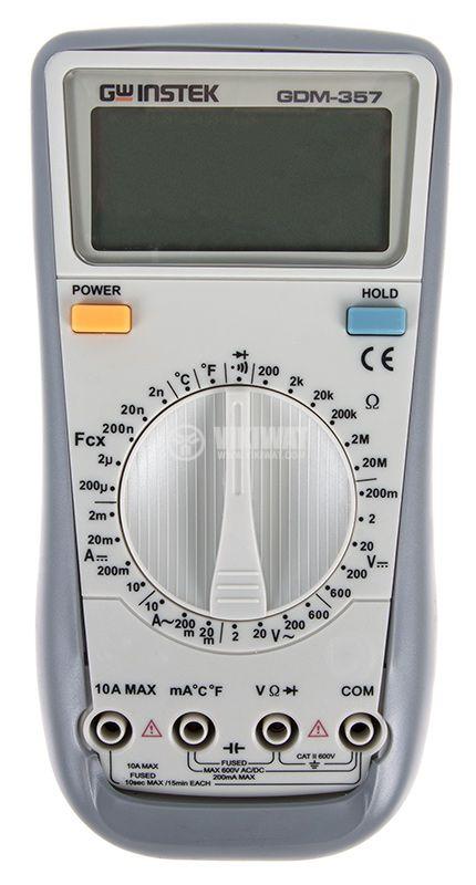 Дигителен мултиметър GDM-357, LCD(1999), Vdc/Vac/Adc/Аac/Ohm/F/°C - 1