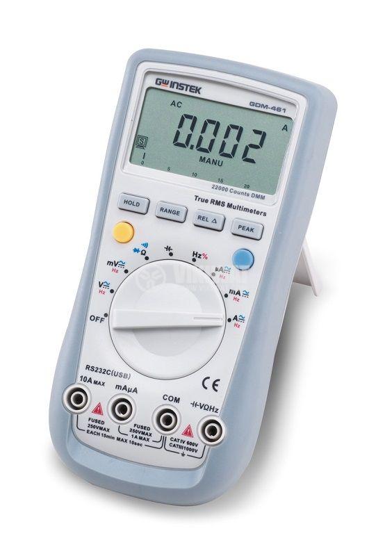 Дигителен мултиметър GDM-461, LCD(22000), Vdc/Vac/Adc/Aac/Ohm/F/Hz, True RMS, RS232 изход