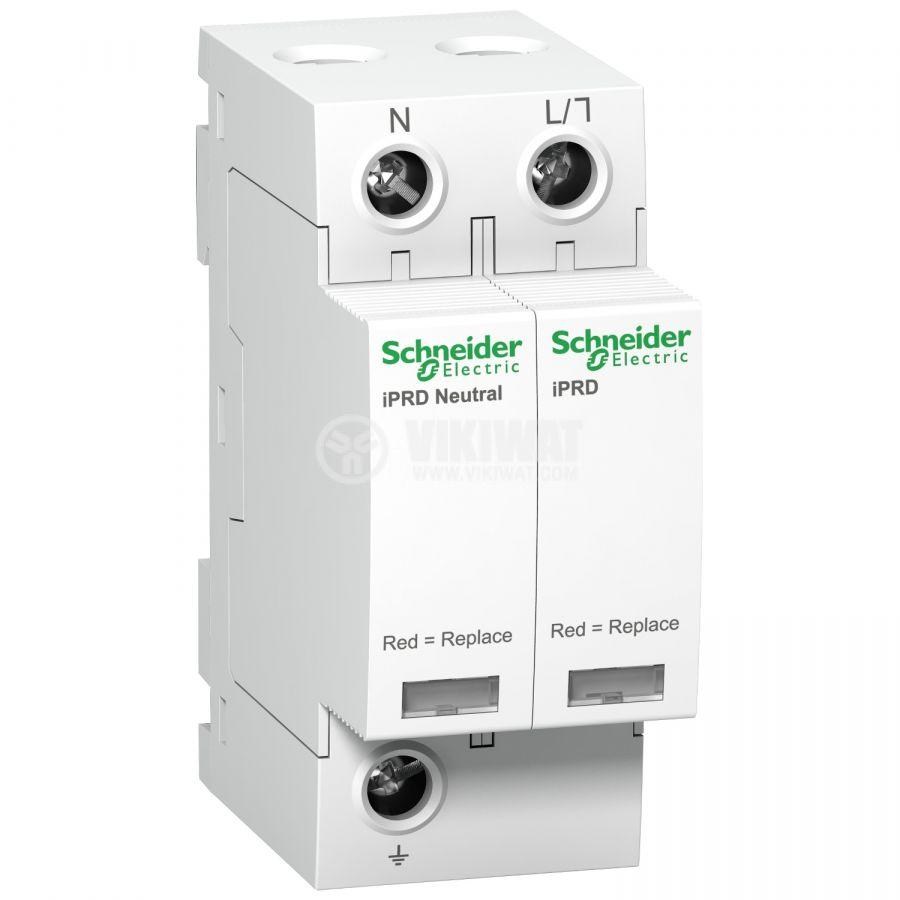 Катоден отводител A9L40501 1P+N 350V <1.6kV 15kA 40kA DIN