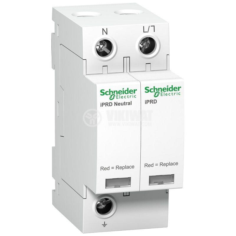 Катоден отводител A9L65501 1P+N 350V <1.5kV 20kA 65kA DIN