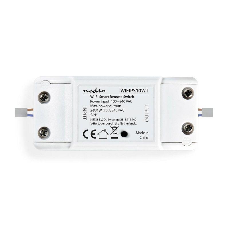 Wi-Fi Smart single switch, 10A, 230VAC, white, NEDIS WIFIPS10WT - 2