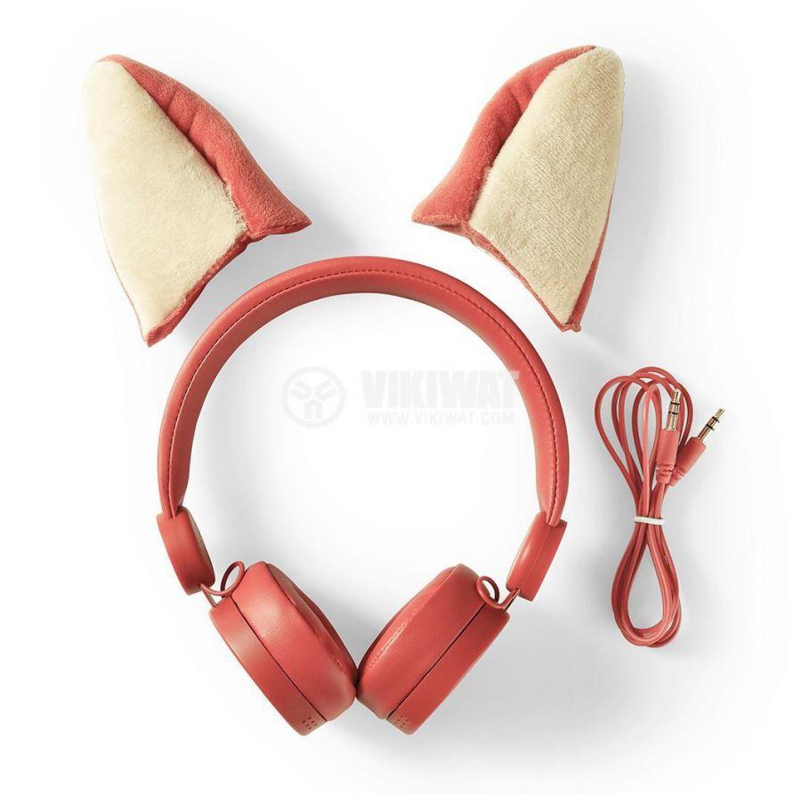 Слушалки HPWD4000OG с магнитни ушички на лисица жак 3.5mm, 85dB 1.2m оранжеви - 10