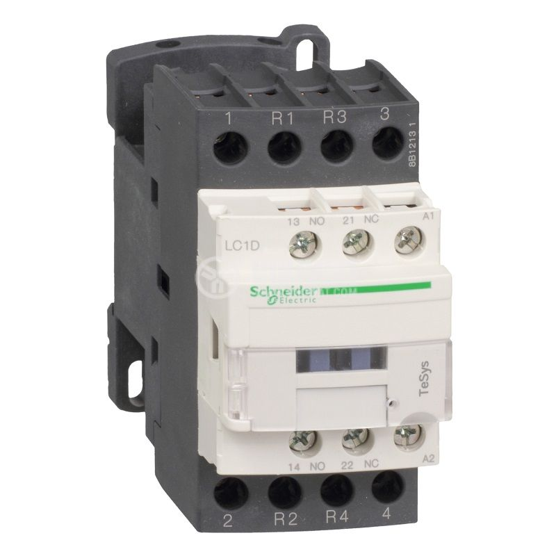 Контактор LC1D128E7 4-полюсен 2NO+2NC 25A 48V помощни контакти NO+NC