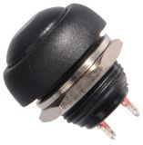 Button Switch, 250VAC, 2A, NO, black