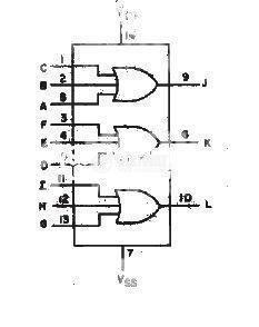 Интегрална схема 4075, CMOS, Triple 3-Input OR  Gate, DIP14 - 2