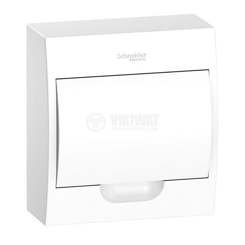 Апартаментно табло, EZ9E108P2S, 8 модула, Easy9, SCHNEIDER, за външен монтаж, бял цвят