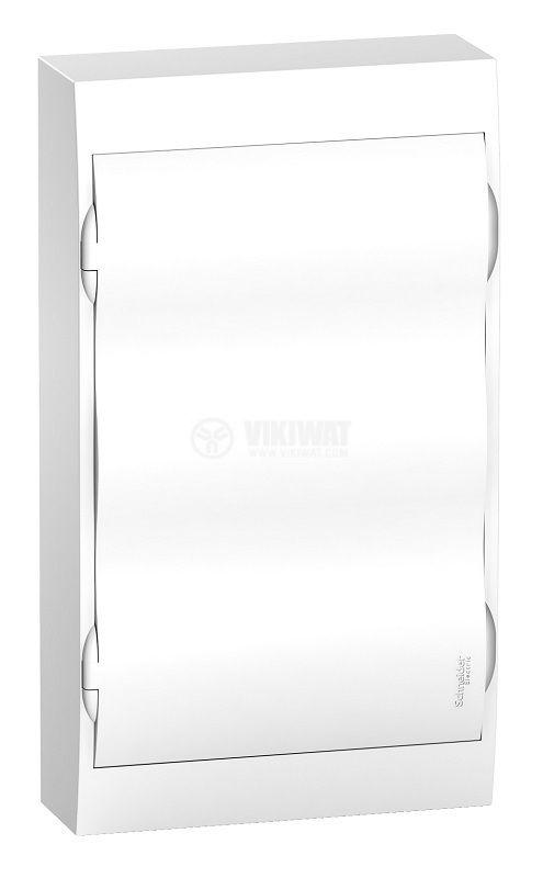 Апартаментно табло, EZ9E312P2S, 3x12 модула, Easy9, SCHNEIDER, за външен монтаж, бял цвят