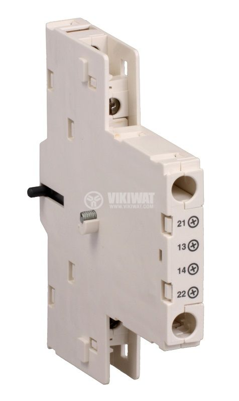 Спомагателен контактен блок GV3A03, 2xNO + NC, 6A/600VAC, страничен