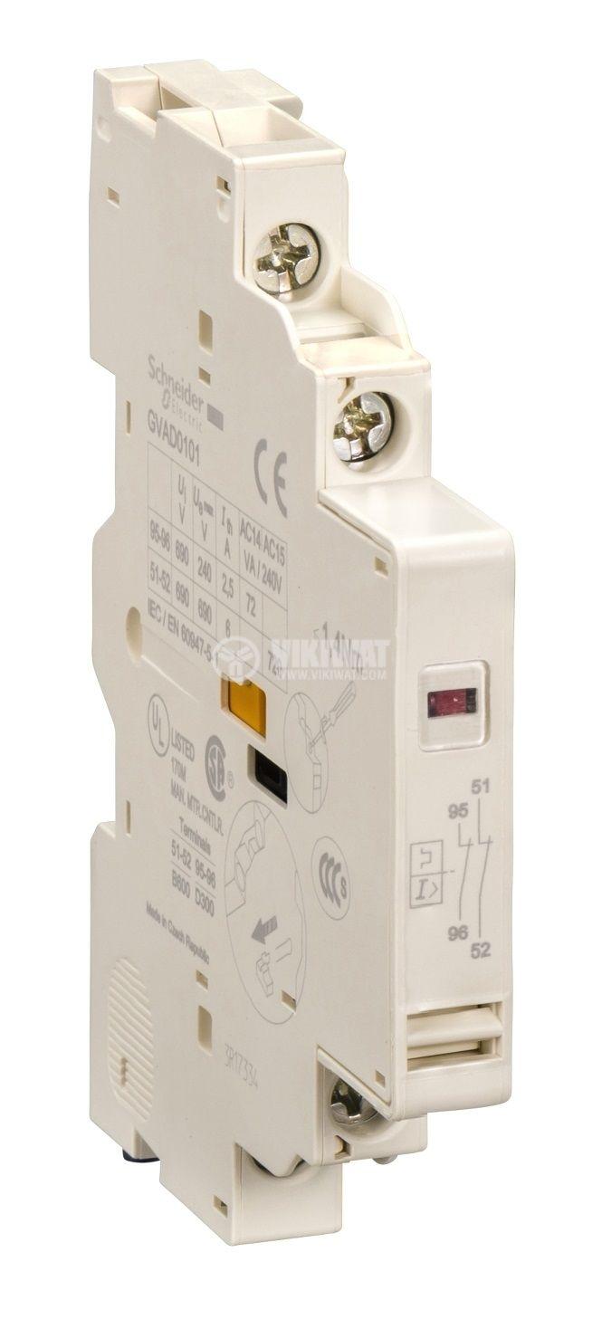 Сигнален контакт GVAD1010 DPST 2xNO GV3 GV2