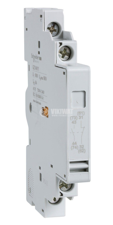 Помощен контакт GZ1AN20 6A/690VAC DPST 2xNO