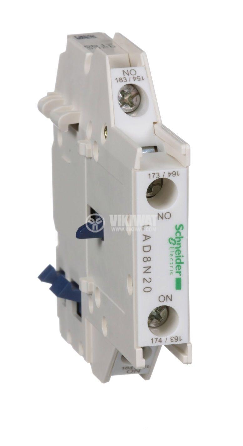 Помощен контакт LAD8N20 10A/690V DPST 2xNO