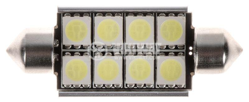 Автомобилна лампа LED, C5W, 12VDC, 42x16.5x8mm - 1