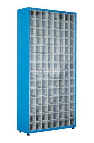 Метален шкаф с пластмaсови чекмеджета 900x310x1900mm, син, 56секц., TMD-501-S, SEMBOL PLASTIK