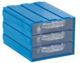 Modular drawer triple 103x135x83mm blue