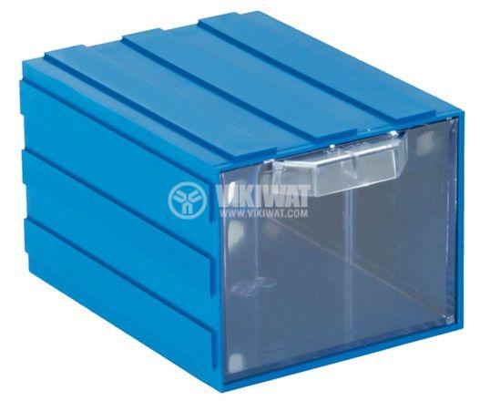 Модулно чекмедже 306 103x135x83mm синьо