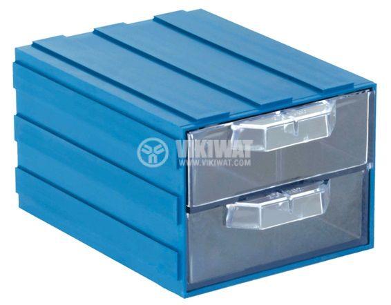 Модулно чекмедже двойно 103x135x83mm синьо