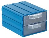 Modular drawer 202-2 double 103x135x83mm blue