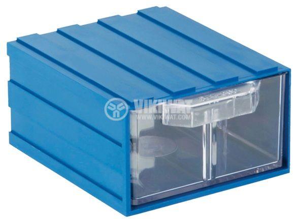 Модулно чекмедже 106x121x60mm синьо
